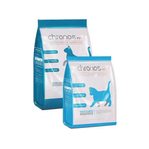 Chronos Pet Gatos Adultos Sabor Frango (Castrados)